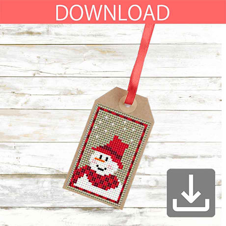 Snowman #7 | Cross stitch pattern