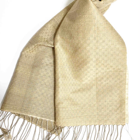 手織りスカーフ クヌギ・松・梅・番茶