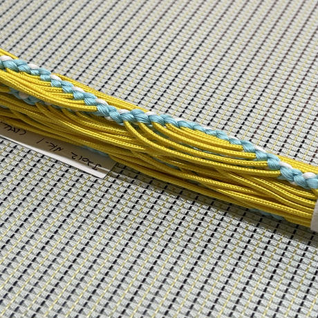 み々弥・帯締「naminami」黄色と青白