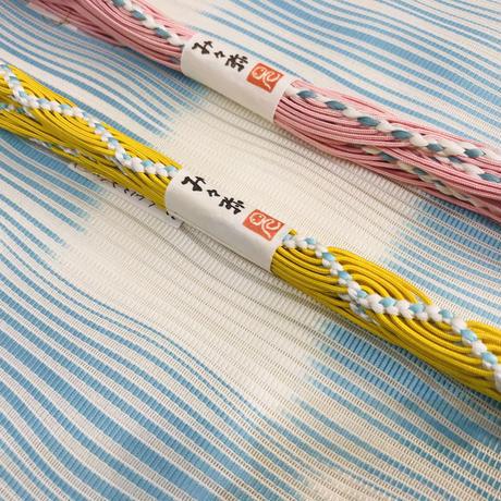 み々弥・三分紐「naminami」黄と青白