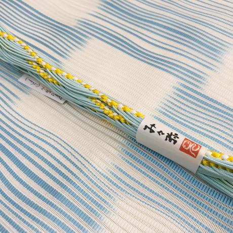 み々弥・帯締「naminami」水色と黄