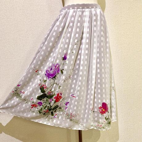 フラワー・ギャザースカート(1970s France デッドストック)