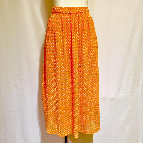 オレンジドット・ニットレース・スカート(1970s Italy デッドストック)