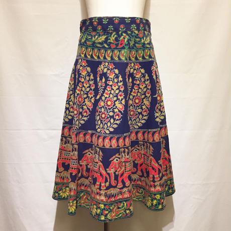 花ペイズリー象ラップスカート(1970s UK)