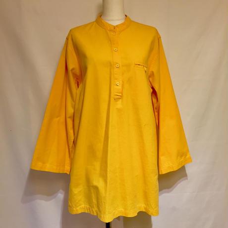 イエロー・スタンドカラーシャツ(1970s UK)