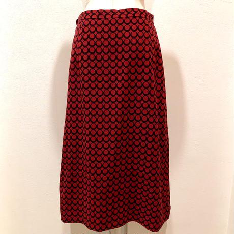 赤&黒リングドット・スカート(1970s France)