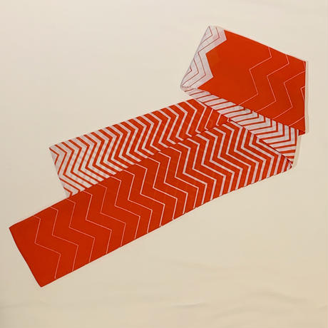 ウェイビーボーダー・ブラウス(スカーフつき)(1970s Italy デッドストック)