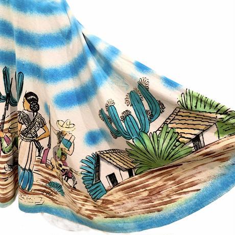 メキシコプリント・サーキュラースカート(1950s Mexico)