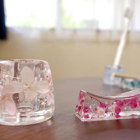 ハーバリウム歯ブラシ立て手作りキット(2コ)