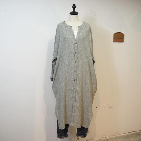 TISSU/シルクリネン ストレートロングシャツ/TS193SH076