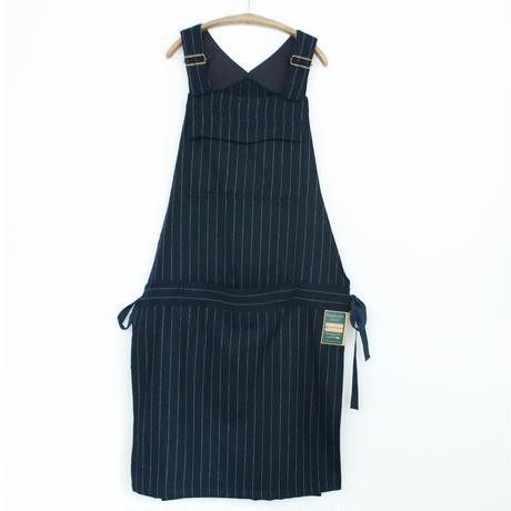 ASEEDONCLOUD ・Handwerker/Work Apron   wool stripe(navy)