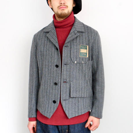 ASEEDONCLOUD Handwerkers/work jacket wool stripe(gray)