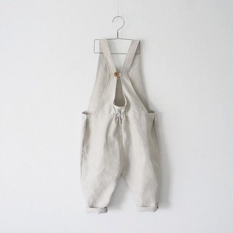 linen button salopette/100