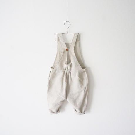 linen button salopette/90