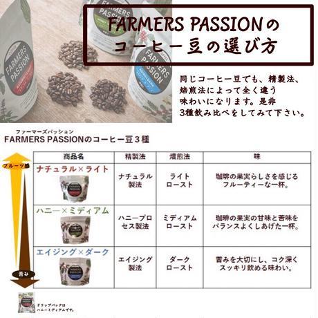オーガニック珈琲 3種 ( 各200g ) とコーヒーピールクッキー1箱のギフトセット  ( オリジナルポストカード付き  )