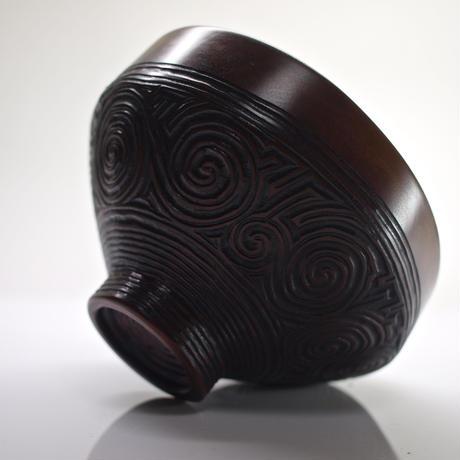 馬盥形茶椀「縄文」