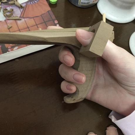 たがための箸 製作事例 ①【筋強直性ジストロフィー症 /女性・右手用 】