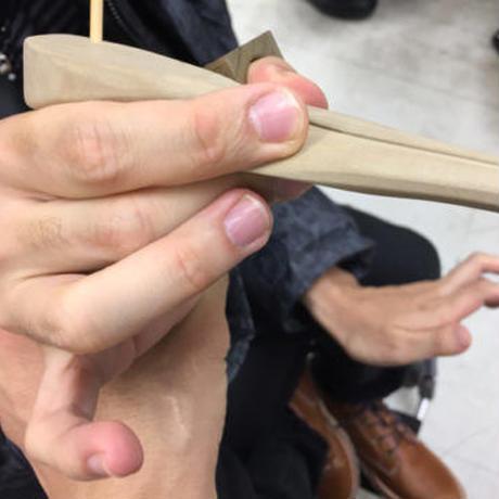 たがための箸 制作事例③【 先天性脳性麻痺/男性・右手用】