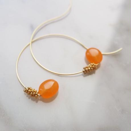 sea grape earrings orange