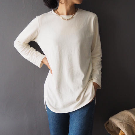long tail t-shirt  IVORY