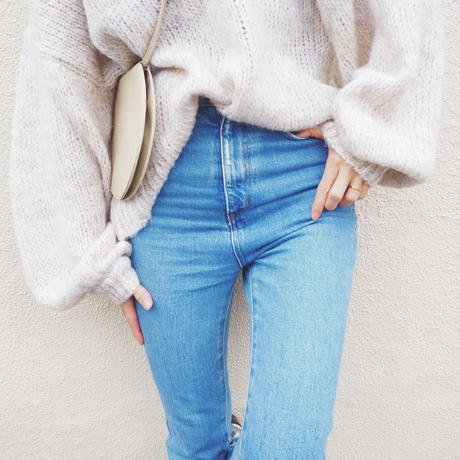 oversized  henry neck sweater