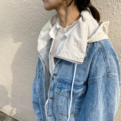 2way big denim jacket