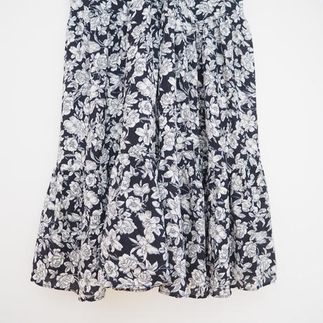 navy  flower print  dress