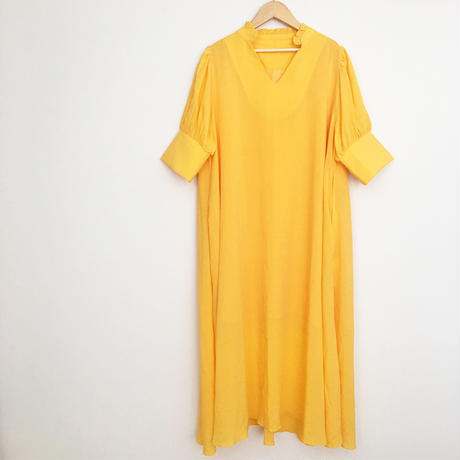 volume color  dress YELLOW
