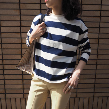 wide striped top NAVY