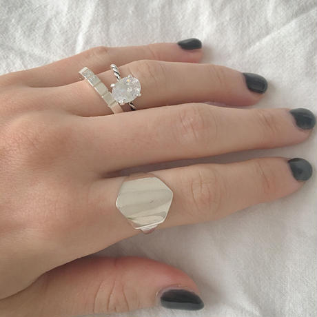 plate ring  HEXAGON