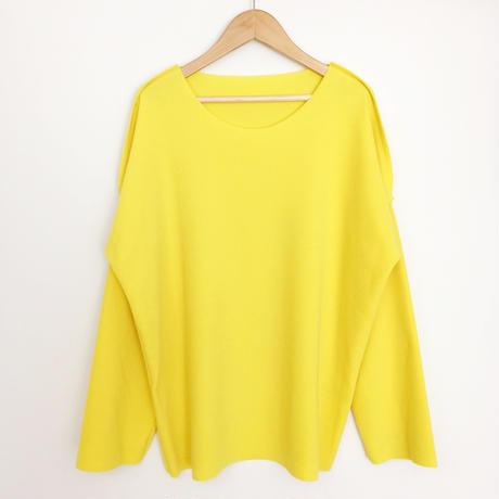 drop shoulder sweater  YELLOW