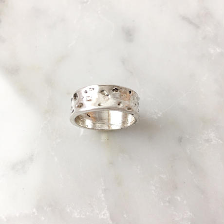 silver wide ring