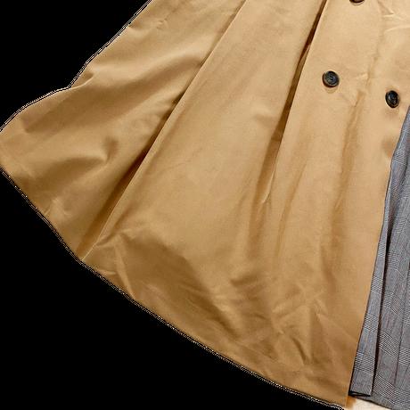 BODY DESSERT (ボディデザート) 柄切り替え フレア スカート 3L/2XL