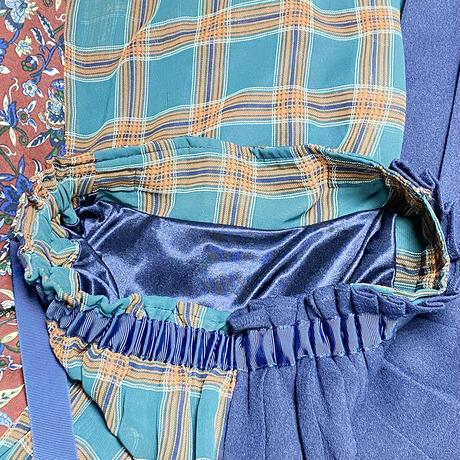 PAGEBOY (ページボーイ) 柄切り替えフレアスカート プリーツロングスカート FREE