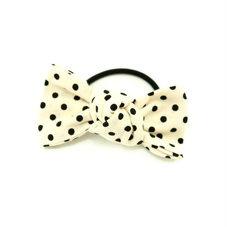 【Little Rin by Osan】White blackminidot★square ribbon
