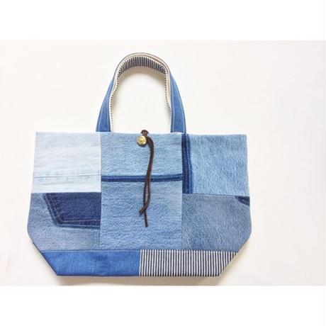REMADE Patchwork TOTE BAG  MidiamSize. (M)CAMOパッチワーク