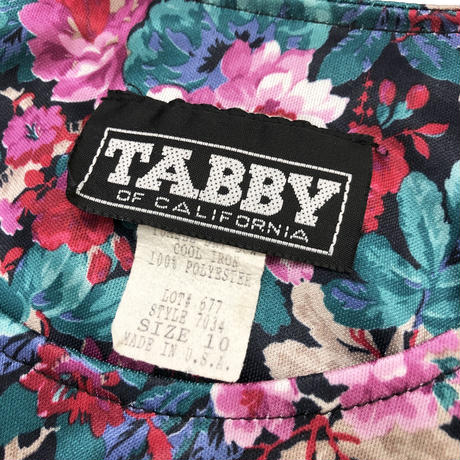 TABBY OF CALIFORNIA flower one piece