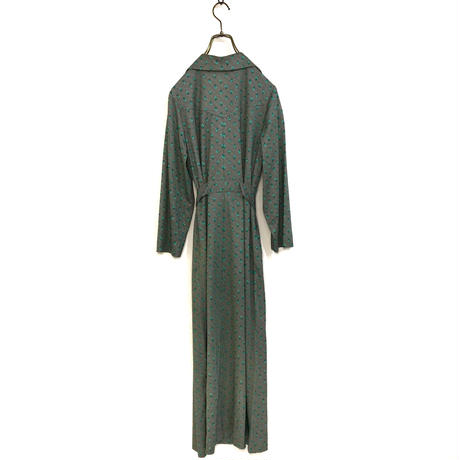 Rhombus rétro long dress & scarf set -496-8