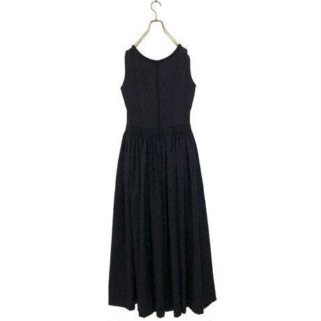 Jacquard  vintage black dress-570-9