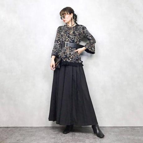 Fringe black pattern tops