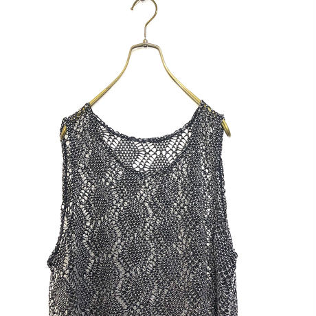 Monotone summer knit tunic-416-7