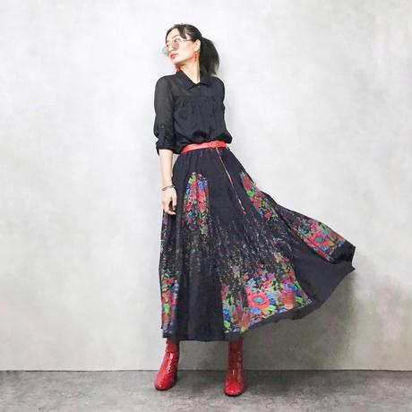 an'ge butterfly long skirt