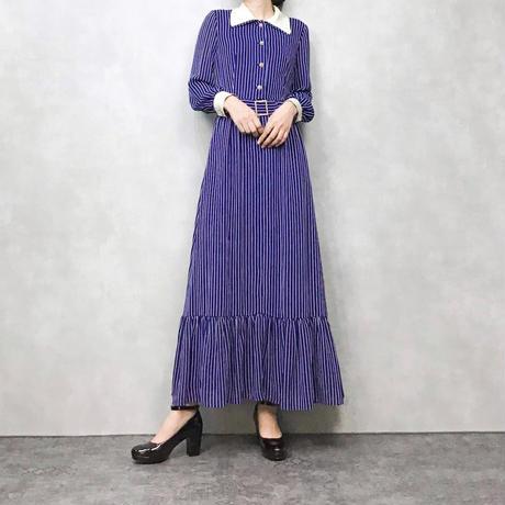 LEILIAN TOKYO stripe blue dress