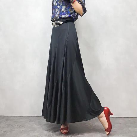 Geneamant black maxi skirt-345