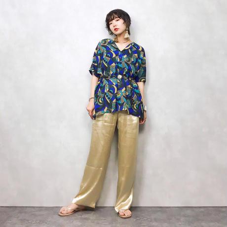 Himaraya CAT pattern blue shirt-328