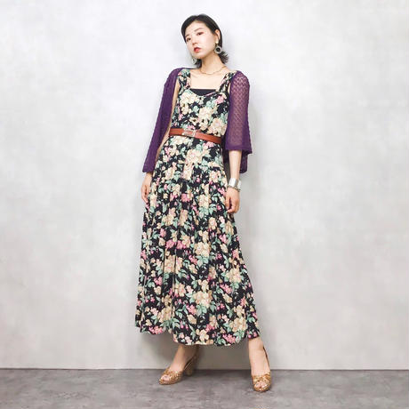 Flower gather import dress-314