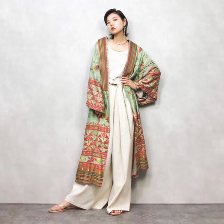 GRANFOULARD import green gown-430-7