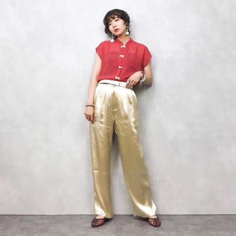 Dot rétro china shirt-333