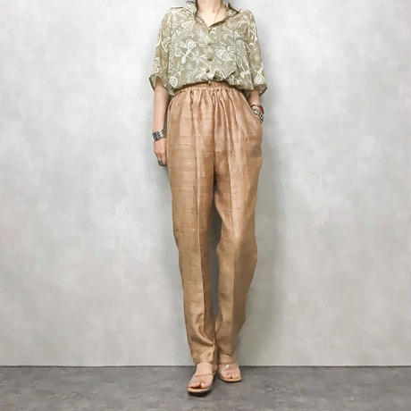 Gloss pink gold pants-374-7