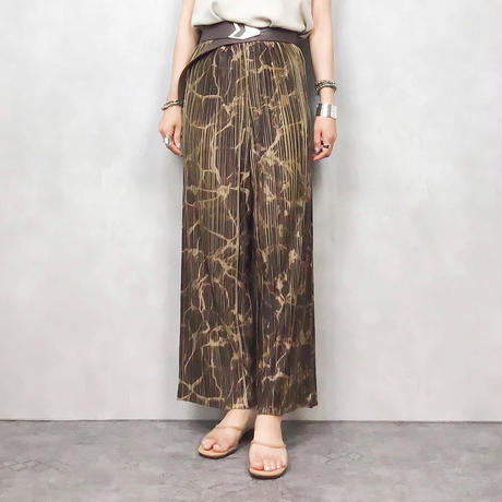 Tie dye pattern pleats pants-432-7
